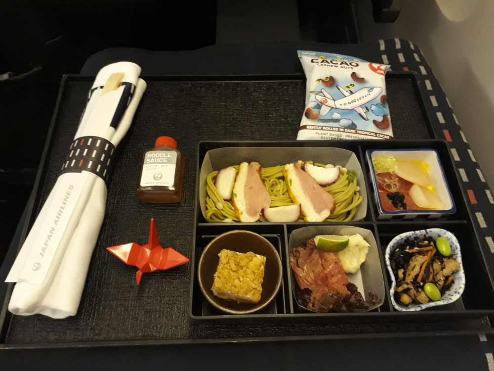 JALビジネスクラスの食事