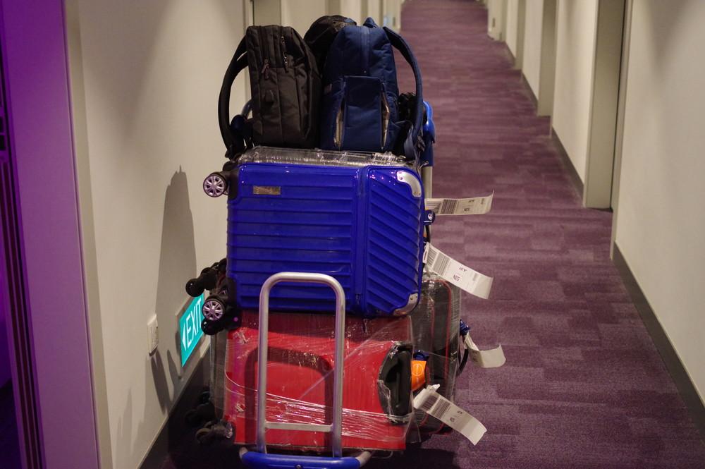 カートを部屋の前まで運べる